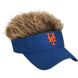 New York Mets Visor with Brown Hair