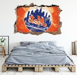 New York Mets Wall Art Decal MLB Baseball Team 3D Smashed Wa