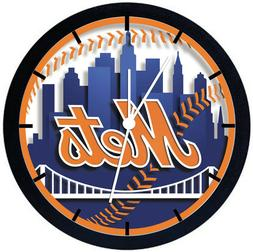 New York Mets Black Frame Wall Clock Nice For Decor or Gifts