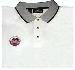 NEW YORK METS WHITE POLO SHIRTS  size X-Large