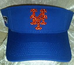 New York Mets Women's Visor Rhinestone Bling MLB  ~NEW~Free
