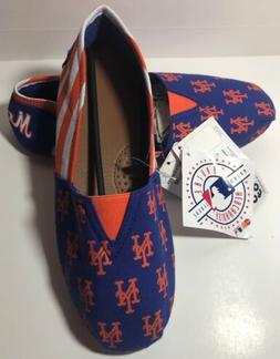 New York Mets Womens Size 11/12 Canvas Slip On Shoes