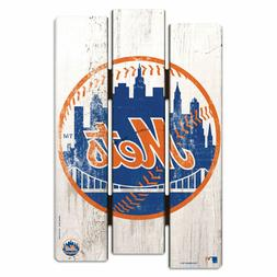 """NEW YORK METS WOOD FENCE SIGN 11""""X17"""" WALL DECORATION HEAVY"""