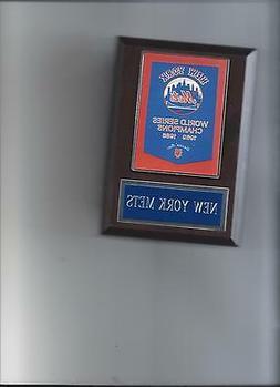 new york mets world series banner plaque