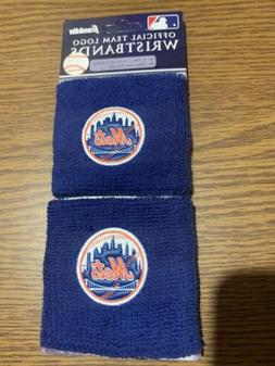 New York Mets Wristbands Sweatbands Brand New 2 Pack,  OFFIC