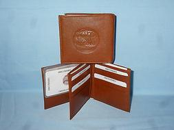 New York NY METS   Leather BiFold Wallet    NEW    brown 4 +