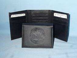 New York NY METS    Leather TriFold Wallet    NEW    black 3