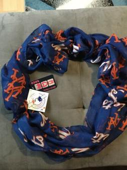 New York NY Mets MLB Shear Lightweight Infinity Scarf
