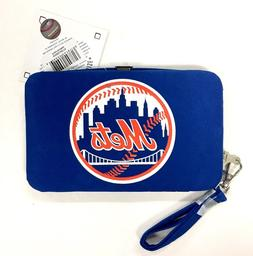 New York Mets Smart Wristlet Cell Phone Wallet Case - New