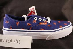 NIB VANS Authentic  New York Mets Blue Youth Kids Casual Sho