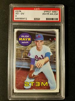NOLAN RYAN~NEW YORK METS~1969 TOPPS PSA-4  2ND YEAR MLB BASE