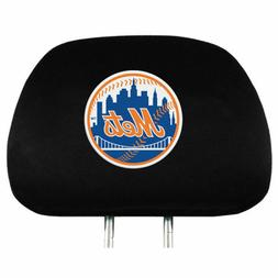 NW YORK METS TWO PACK HEAD REST COVERS NEW & OFFICIALLY LICE