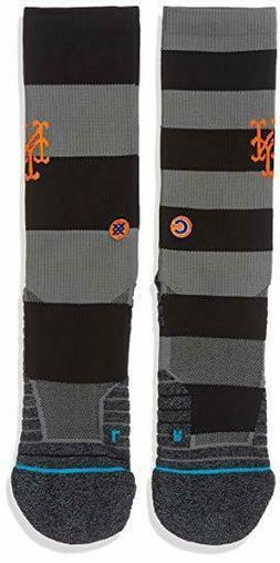 NWT M 6-8.5 STANCE NEW YORK METS Socks Nightshade Crew Heigh
