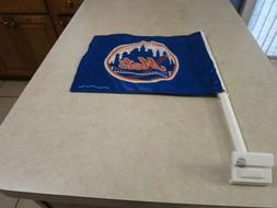 NWT NEW YORK METS 2 sided Car Flag Licensed from Rico FREE S