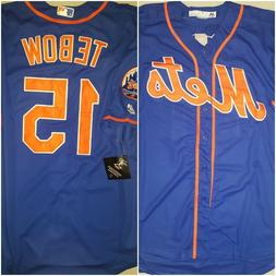 NWT New York Mets Tim Tebow #15 Blue Replica Mens Size XXL B