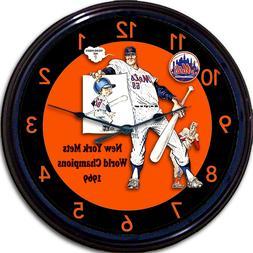 NY Mets 1969 World Series Yearbook Wall Clock Shea Stadium B