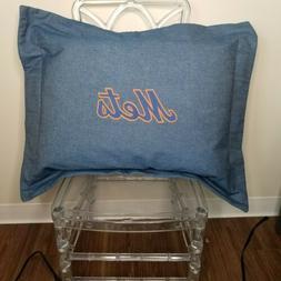 Dan River NY Mets Blue Denim Pillow Sham Only