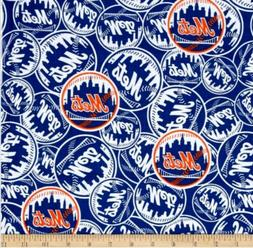"""ny mets fabric 10""""x58"""" COTTON good for masks NEXT DAY SHIP n"""