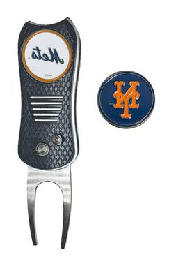 NY New York Mets MLB Golf Ball Marker w/ Switchfix Switchbla
