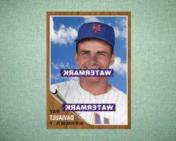 Ray Daviault New York Mets 1962 Style Custom Baseball Art Ca