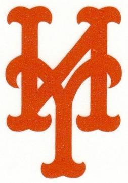 REFLECTIVE New York Mets 2 inch fire helmet decal sticker ye