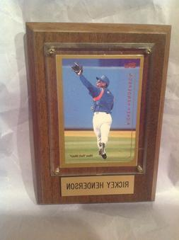 RICKEY HENDERSON New York Mets TOPPS Card Sealed in Wooden P