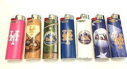SET OF 6 BIC FULL SIZE Lighters New York Mets MLB LIGHTERS