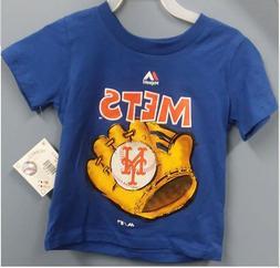 Majestic Toddlers' New York Mets Baseball Mitt T-Shirt