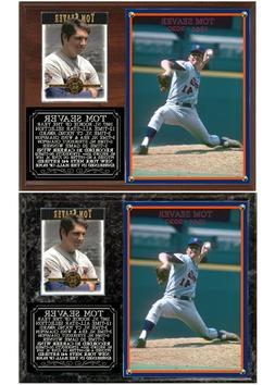 Tom Seaver New York Mets Photo Card Plaque