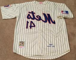 Tom Seaver New York Mets Retro Throwback Jersey Mens XL NEW