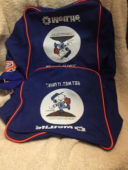 Vintage New York NY Mets Blue & Orange Duffle Bag SGA- Met L