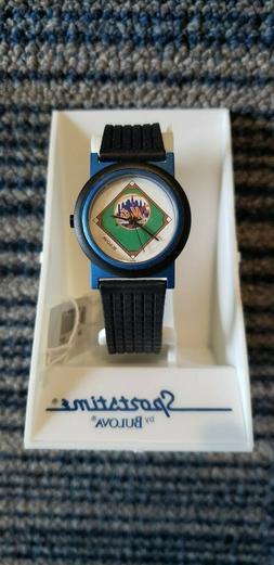 VTG Bulova Sportstime NEW YORK METS MLB Wrist Watch NIB NOS