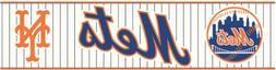 York Wallcoverings ZB3399BD New York Mets Prepasted Border,